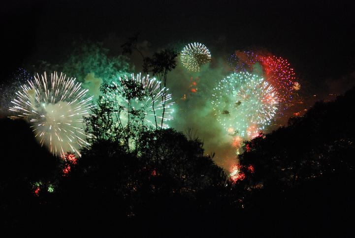 Feuerwerk beim Atlantik-Festival in Funchal